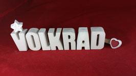 Beton, Steinguss Buchstaben 3D Deko Namen VOLKRAD als Geschenk verpackt!