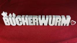 Beton, Steinguss Buchstaben 3D Deko Stern Namen BÜCHERWURM als Geschenk verpackt!