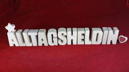 Beton, Steinguss Buchstaben 3D Deko Stern Namen ALLTAGSHELDIN als Geschenk verpackt!
