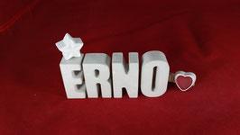 Beton, Steinguss Buchstaben 3D Deko Namen ERNO als Geschenk verpackt!