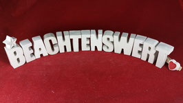Beton, Steinguss Buchstaben 3D Deko Stern Schriftzug BEACHTENSWERT  als Geschenk verpackt!
