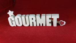 Beton, Steinguss Buchstaben 3D Deko Stern Namen GOURMET als Geschenk verpackt!
