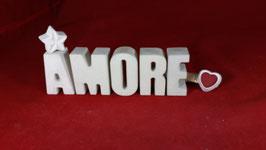 Beton, Steinguss Buchstaben 3D Deko Stern Namen AMORE als Geschenk verpackt!