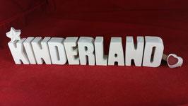 Beton, Steinguss Buchstaben 3D Deko Stern Namen KINDERLAND als Geschenk verpackt!