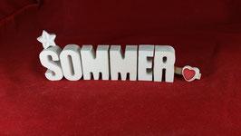Beton, Steinguss Buchstaben 3D Deko Stern Namen SOMMER als Geschenk verpackt!