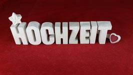 Beton, Steinguss Buchstaben 3D Deko Stern Namen HOCHZEIT als Geschenk verpackt!