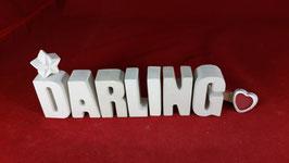 Beton, Steinguss Buchstaben 3D Deko Stern Namen DARLING als Geschenk verpackt!
