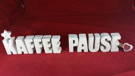 Beton, Steinguss Buchstaben 3D Deko Stern Namen KAFFEE PAUSE als Geschenk verpackt!
