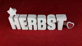 Beton, Steinguss Buchstaben 3D Deko Stern Namen HERBST als Geschenk verpackt!