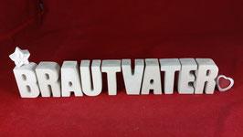 Beton, Steinguss Buchstaben 3D Deko Stern Namen BRAUTVATER als Geschenk verpackt!