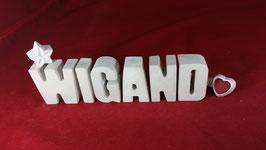 Beton, Steinguss Buchstaben 3D Deko Namen WIGAND als Geschenk verpackt!