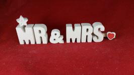 Beton, Steinguss Buchstaben 3D Deko Stern Namen MR & MRS als Geschenk verpackt!