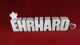 Beton, Steinguss Buchstaben 3D Deko Namen EHRHARD als Geschenk verpackt!