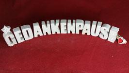 Beton, Steinguss Buchstaben 3D Deko Stern Namen GEDANKENPAUSE als Geschenk verpackt!