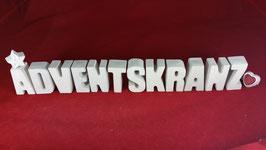 Beton, Steinguss Buchstaben 3D Deko Stern Namen ADVENTSKRANZ als Geschenk verpackt!
