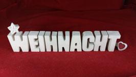 Beton, Steinguss Buchstaben 3D Deko Stern Namen WEIHNACHT als Geschenk verpackt!