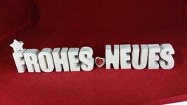 Beton, Steinguss Buchstaben 3D Deko Stern Namen FROHES NEUES als Geschenk verpackt!