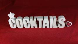 Beton, Steinguss Buchstaben 3D Deko Stern Namen COCKTAILS als Geschenk verpackt!