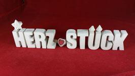 Beton, Steinguss Buchstaben 3D Deko Stern Namen HERZ STÜCK als Geschenk verpackt!