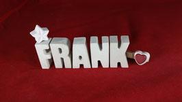 Beton, Steinguss Buchstaben 3D Deko Namen FRANK als Geschenk verpackt!