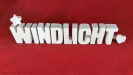 Beton, Steinguss Buchstaben 3D Deko Stern Namen WINDLICHT als Geschenk verpackt!