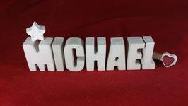 Beton, Steinguss Buchstaben 3D Deko Namen MICHAEL als Geschenk verpackt!