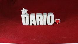 Beton, Steinguss Buchstaben 3D Deko Namen DARIO als Geschenk verpackt!