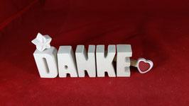 Beton, Steinguss Buchstaben 3D Deko Stern Namen DANKE als Geschenk verpackt!