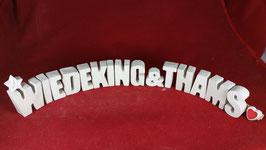 Beton, Steinguss Buchstaben 3D Deko Stern Schriftzug WIEDEKING & THAMS als Geschenk verpackt!