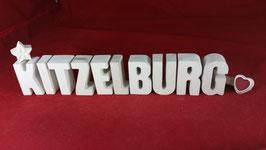 Beton, Steinguss Buchstaben 3D Deko Stern Namen KITZELBURG als Geschenk verpackt!