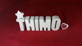 Beton, Steinguss Buchstaben 3D Deko Namen THIMO als Geschenk verpackt!