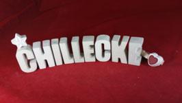 Beton, Steinguss Buchstaben 3D Deko Stern Namen CHILLECKE als Geschenk verpackt!