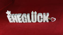 Beton, Steinguss Buchstaben 3D Deko Stern Namen EHEGLÜCK als Geschenk verpackt!