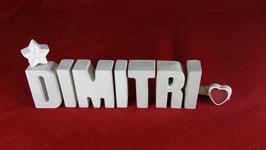 Beton, Steinguss Buchstaben 3D Deko Namen DIMITRI als Geschenk verpackt!