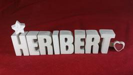 Beton, Steinguss Buchstaben 3D Deko Namen HERIBERT als Geschenk verpackt!