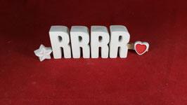 Beton, Steinguss Buchstaben 3D Deko Stern Schriftzug RRRR als Geschenk verpackt!