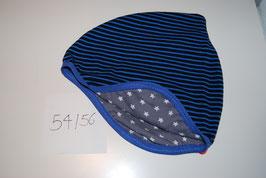 46 Helmmütze, Stripes in Dunkelblau und blau