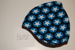 69 Helmmütze mit Fleecefutter, Maxidots auf Dunkelblau