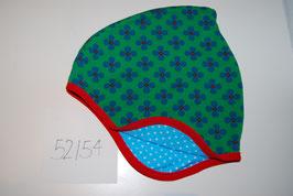 30 Helmmütze, Blumen auf grün