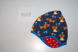 4 Helmmütze, Tiger auf dunkelblau