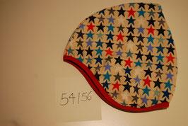 80 Helmmütze mit Fleecefutter, Stars Multicolor auf Beige