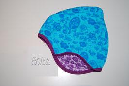 25 Helmmütze, Eulen Hellblau