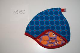 9 Helmmütze, Bigdots auf blau