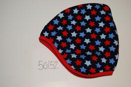 71 Helmmütze mit Fleecefutter, Sternen Multicolor