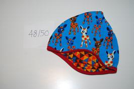 8 Helmmütze, Reh auf hellblau