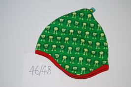 53 Helmmütze mit Fleecefutter, Löwen auf Grün