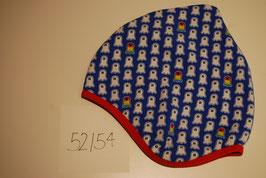 75 Helmmütze mit Fleecefutter, Geister auf Königsblau