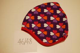 49 Helmmütze mit Fleecefutter, Glücksklee auf Violett