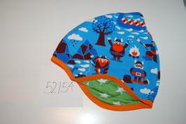 35 Helmmütze Wikinger auf Hellblau