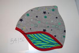 44 Helmmütze, kleine Sterne auf Grau